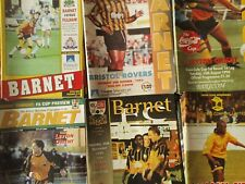 BARNET HOME PROGRAMMES SEASONS  1993/94 - 1996/97