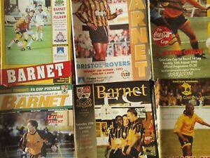 BARNET HOME PROGRAMMES SEASONS  1993/94 - 1996/97