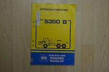 Betriebsanweisung Muldenkipper Dumper Volvo 5350 Bedienungs- & Wartungsanleitung