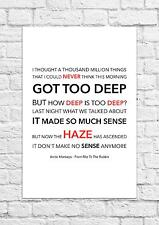 Arctic Monkeys - From RItz To The Rubble - Song Lyric Art Poster - A4 Size
