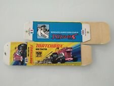 Matchbox Superfast #25 Mod Tractor Original Empty Box Only Mint