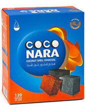 Coco Nara Natural Coconut Hookah Shisha charcoals Coals Smoke (120 Pieces)