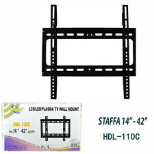 """SUPPORTO STAFFA PARETE TV LCD LED PLASMA DA 14"""" A 42"""" POLLICI MAX CARICO 45KG"""