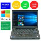 Lenovo Thinkpad T410 Laptop Windows 10 Win 32bit I5 2.4ghz 160gb Hd Dvd Wifi Pc