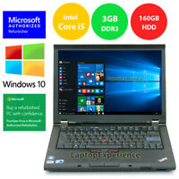 LENOVO THINKPAD T410 LAPTOP WINDOWS 10 WIN 32bit i5 2.4GHz 160GB HD DVD WiFi PC