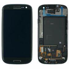 Original Samsung Galaxy S3 GT-i9300 Display Modul Rahmen Grau Titan GH97-13630F