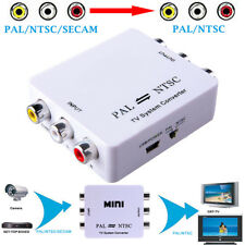 US PAL/NTSC/SECAM to PAL/NTSC Bi-directional TV System Switcher Converter RCA DV