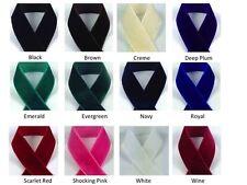 """1/4"""" VELVET RIBBON - Select Color and Length - Nylon Velvet"""