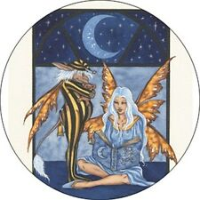 Amy Brown Bedtime Stories Faery Fairy Button Pin Badge