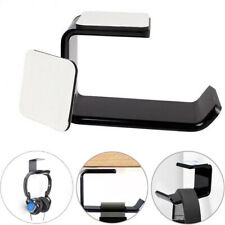 Under Desk Headset Mount Acrylic dual Headphone Hanger Stand Holder Hook N2C