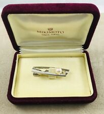 Mikimoto Sterling Akoya 7.5mm Pearl Tie Clip Clasp