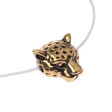 DIY Metal Leopard Head Bracelet Connector Charm Beads Silver Gold Gunmetal 10PCS