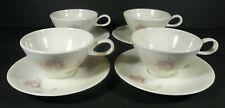 Mid Century Iroquois China BEIGE ROSE Set (s) of 4 Cups & Saucers Impromptu Pink