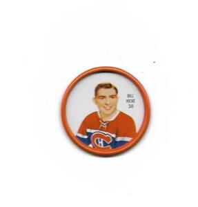 1962-63 Shirriff Coin:#38 Bill Hicke,Canadiens
