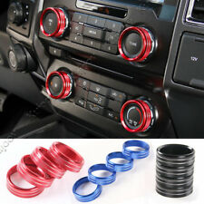 3 Color For Ford F150 2016+ Air Conditioner & Audio Switch Decor Ring Cover Trim