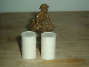 1/32 SCALE SOLID RESIN OIL DRUMS FOR MODEL SCENES & DIORAMAS 2 PACK SEE PICS
