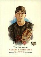 1x - 2007 Topps Allen Ginter Card#274 Tim Lincecum RC Rookie