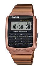 Casio CA506C-5A Men's Rose Gold Tone Retro 8 Digit Alarm Chrono Calculator Watch