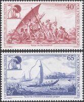 French Polynesia 1992 Arts Festival/Canoes/Boats/Transport 2v set (n45313b)