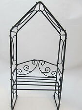 New listing The Spring Shop Fairy Garden Miniature Black Wire Arbor w/ Bench