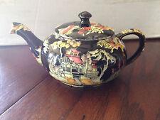Royal Winton Grimwades PEKIN BLACK (GOLD TRIM) Mini Stacking Tea Pot