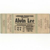 ALVIN LEE & TEN YEARS LATER Concert Ticket Stub AUSTIN MN 4/27/78 RIVERSIDE Rare