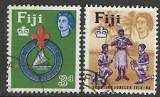 FIJI 1964 50th Anniv FIJIAN SCOUTS Set 2v FINE USED