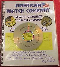ROY EHRHARDT CD PDF AMERICAN WATCH COMPANY 1,001-1,500,000  HANDWRITTEN BOOK