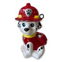 PAW PATROL Dog MARSHALL Ceramic COIN Piggy BANK Fireman Money Kids Dalmatian