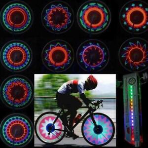 32 Pattern LED Colorful Bicycle Wheel Tire Spoke Signal Light For Bike Safety UK