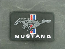 Patches Aufbügler Aufnäher Ford Mustang V8 Big Block Motor Bügelpatch Logo