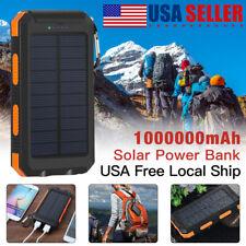 Solar Power Bank 1000000mAh Portable Dual USB External Battery Charger For Phone