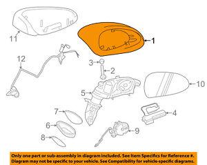 PORSCHE OEM 911 Door Side Rear View Mirror Housing-Cap/Cover Left 99173161900G2L