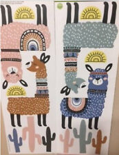 LLAMA wall stickers 14 decals western themed room decor cacti suns cactus