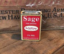 Vintage Schilling/McCormick Sage Spice Tin Ca. 1950