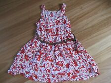 LADIES CUTE RED & WHITE VISCOSE SLEEVELESS DRESS WITH BELT BY JAY JAYS - SIZE 8