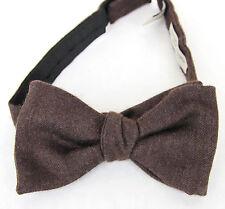 NEW Authentic BOTTEGA VENETA Silk/Cashmere Bow Tie Brown 270827 2000