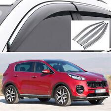 Car Window Visor Vent Deflector Sun/Rain Guards Set for Kia Sportage 2017-2020