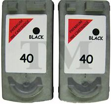 PG-40 Twin Pack Black Ink Cartridges fits Canon Pixma iP2600 Printers
