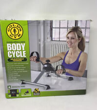 Gold's Gym Stationary Exercise Bike Folding Upper & Lower Body Cycle Monitor