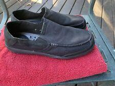 CROCS Walu Luxe CANVAS Black SLIP-ON LOAFER SHOES 203473 SZ 15 NEAR MINT