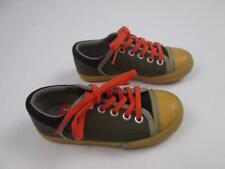 Umi Kids Boys Luke Yellow Brown Orange Black Casual Canvas Shoes 10.5 New