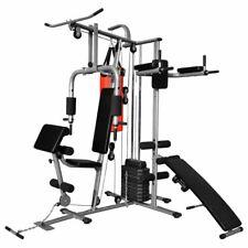 vidaXL Multifunktions-Fitnessgerät 65kg Heimtrainer Hantel Sit-Up Bank Boxsack