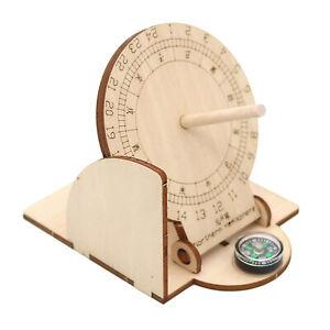 Maquette En Bois à Construire Puzzle 3d éducatif Cadran Solaire Pliable
