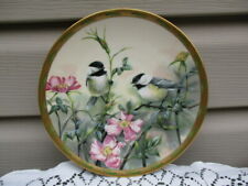 Lenox Rose Morning by Catherine McClug Birds Collector's Plate Chickadees