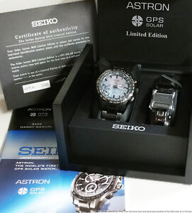 Rare Seiko Astron World Time GPS Solar SSE091 Limited Edition MOP Box Papers