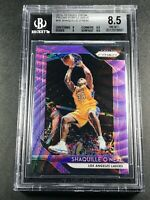 SHAQUILLE ONEAL SHAQ 2018 PANINI PRIZM #35 PURPLE WAVE REFRACTOR BGS 8.5 W/2 9.5