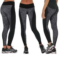 Women Yoga Pants Lady Fitness Leggings Running Gym Exercise Sports Trousers XXL