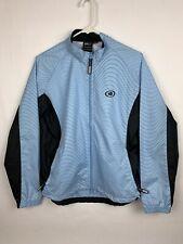 Illuminite Long Sleeve Bicycling Jacket Reflective Wear Light Blue Womens Large