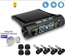 Solar Power Tpms Car Tire Pressure Monitor System Auto Tyre Temperature Warning